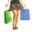 the girl makes purchases. poster