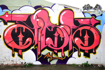 graffitied wall