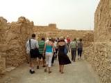 group of tourists visiting massada/ israel poster