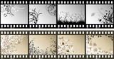 floral film strips poster