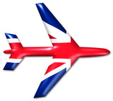 flugzeug uk airplane united kingdom poster