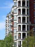 geometric balconies poster