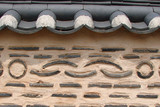 mur traditionnel coréen poster