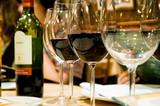 glasses of wine in restaruant - Fine Art prints