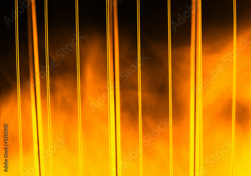 wire, bars,fire  and smoke