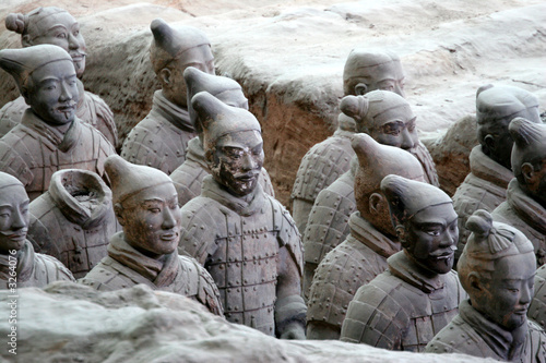 Plexiglas Xian terracotta warriors