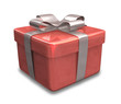 pacchetto regalo rosso - wrapped gift red