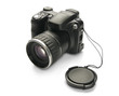 digital camera. with clipping path