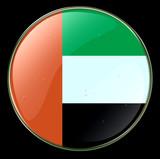 united arab emirates flag button poster
