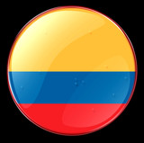 colombia flag button poster
