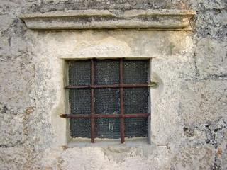 window with grillage