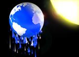 melting earth poster