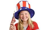 patriotic girl poster