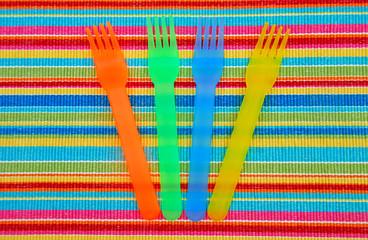 colorful picnic ware