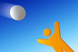 man catching the flying ball poster