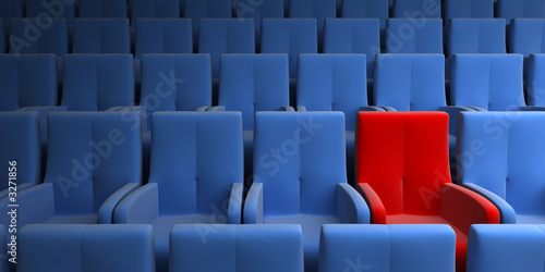 Fotobehang Theater auditorium with one exclusive seat