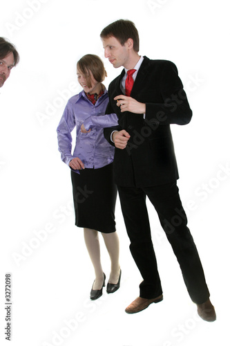 young  businessman and  secretary