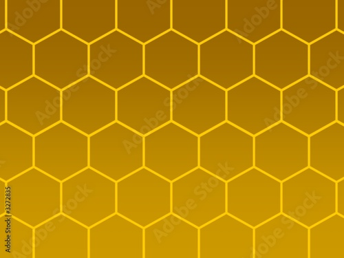 bees honeycomb golden background