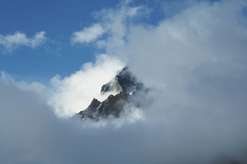 clouds in mountain