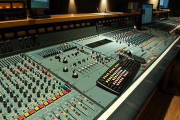 audio post production mixing console