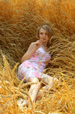 anna in wheat field 3 poster
