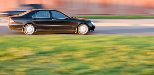 luxury and power: black car mercedes benz s class