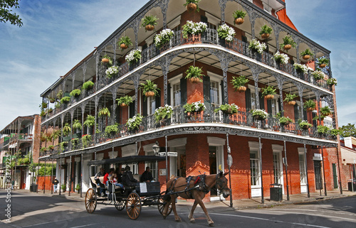canvas print picture french quarter carriage