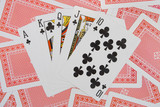 royal flush on playing cards poster
