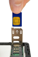 hand install sim card to mobile phone