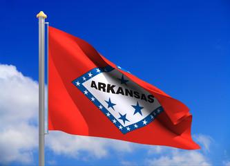 arkansas flag (include clipping path)