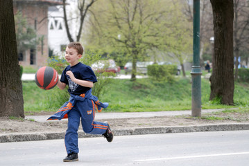 boy running...