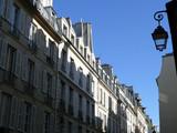 rue du quartier latin avec lanterne poster