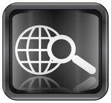 search and magnifier icon. (with clipping path) poster