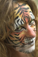 painted tiger face