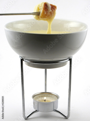 cheese fondue in pot