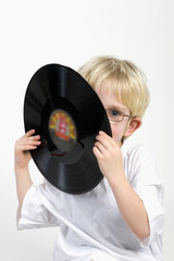 kid with lp