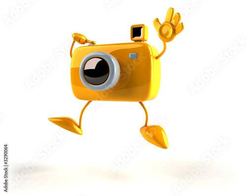 appareil photo toon avec des mains et des pieds