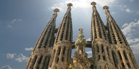 sagrada familia church in barcelona, spain