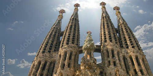 sagrada familia church in barcelona, spain