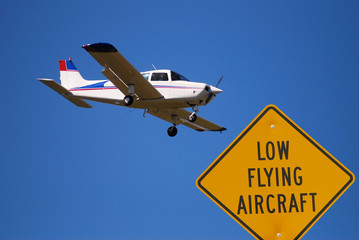 low flying airplane