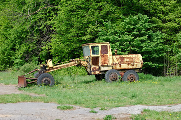 desolated tractor