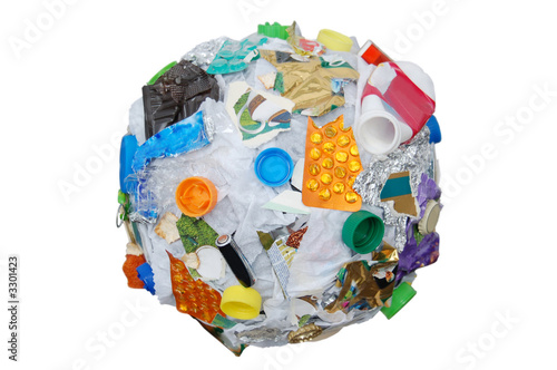 Leinwandbild Motiv recycle sphere
