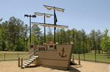 pirate ship playground poster