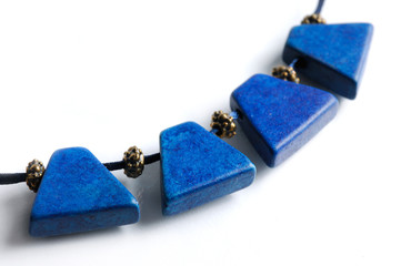 necklace with blue gems