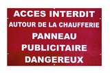 panneau danger poster