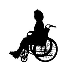 lady in wheel chair
