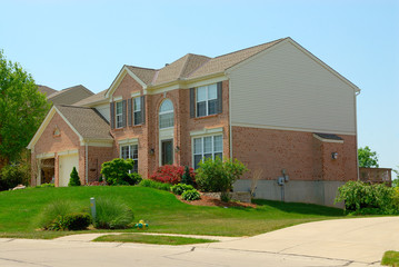 2-story brick suburban home