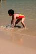 girl at the bay of calvi