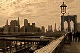Fototapety brooklyn bridge sepia