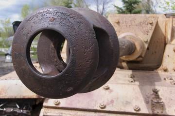 rusty barrel of tank